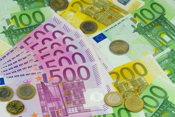 verschiedene Euro Banknoten
