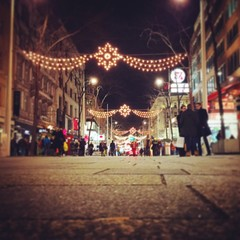 Nice View from the ground along the Shopping-Street in Vienna
