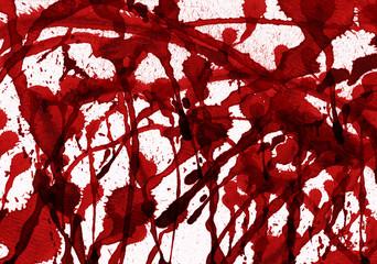 splashes of blood