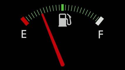Fuel gauge full-empty-full car dashboard meter