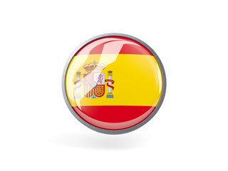 Round icon with flag of spain