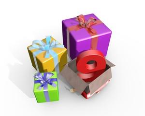 Pakketje met cijfer negen - 9e verjaardag