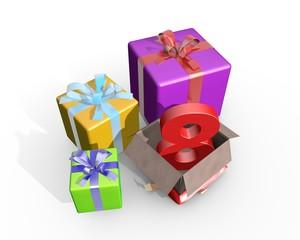 Pakjes voor je achtste verjaardag