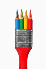 Creative paintbrush concept