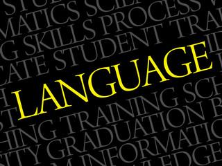 LANGUAGE word cloud, education business concept