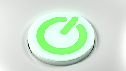 Power button switch turn on green