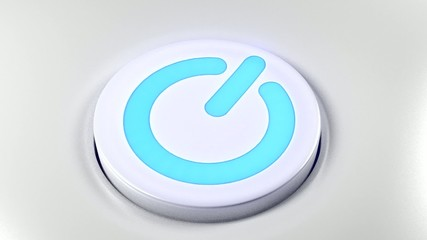 Power button switch turn on blue