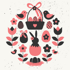 Easter Design Elements Collection