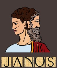 Janus with title