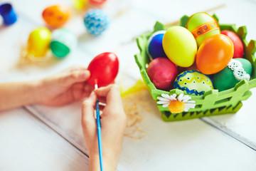 Bright spring eggs