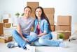 Couple in their new flat