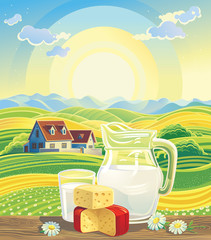 Landscape and dairy products