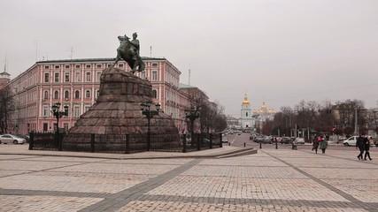 Monument to Bogdan Khmelnitsky. Kiev. Ukraine