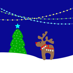Christmas background with lights