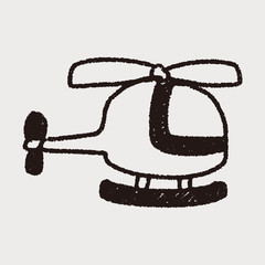 helicopter doodle drawing
