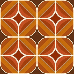 Seamless retro brown and ocher background pattern