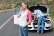 Couple after a car breakdown - 79282238