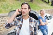Couple after a car breakdown - 79282445