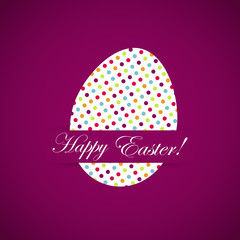 Happy Easter celebrations greeting card design