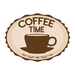 Vector sign. Coffee time.