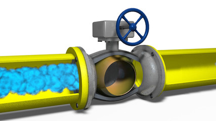 Gas movement on a gas pipeline