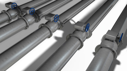 The equipment of gas pipelines
