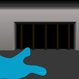 Water flows into the sewer hole
