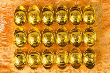 Chinese gold ingots decoration