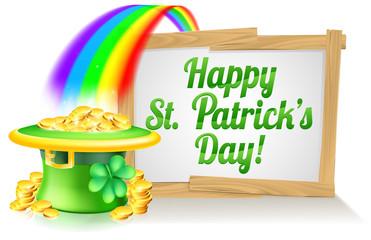 Happy St Patricks Day Sign