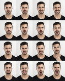 Man in different moods - 79285426