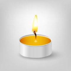 Tealight candle.