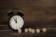 Fünf vor 12. Business Hintergrund für Zeit Konzepte