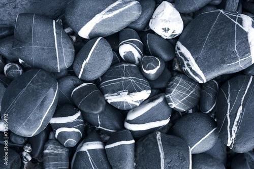 Tuinposter Textures round peeble stones