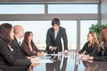 Treffen im Konferenzraum
