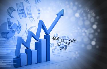 Financial graph chart .