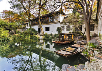 China Suzhou Garden Boats