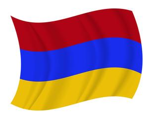 Armenia flag waving vector