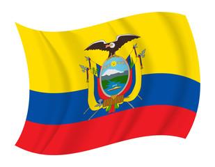 Ecuador flag waving vector