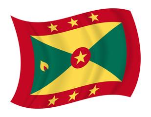 Grenada flag waving vector
