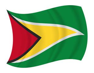 Guyana flag waving vector