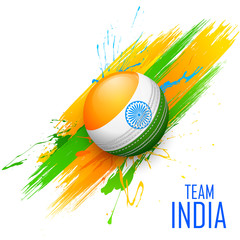 Cricket ball in grungy India background