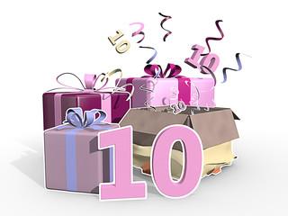 Roze presentjes voor meisje van tien