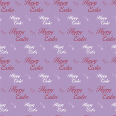Happy Easter Letter Purple Seamless Background