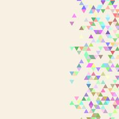 Beige triangle template