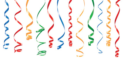 Color party ribbons banner