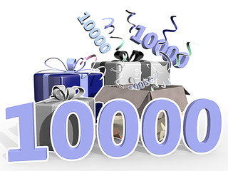 Anniversary with presents - 10000 th visitor