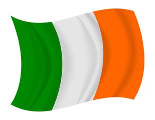 Ireland flag waving vector
