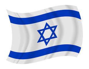 Israel flag waving vector