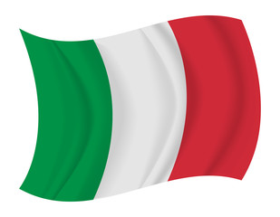 Italy flag waving vector