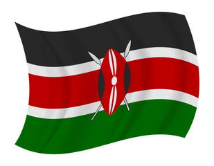 Kenya flag waving vector